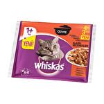 Whiskas Güveç Klasik Seçenekler 85 g 4'lü Avantaj Paketi