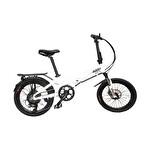 "Mecer Katlanır Elektrikli Bisiklet 20"" Beyaz"