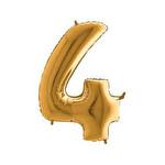 Folyo Balon Altın Rakam 4 96 cm