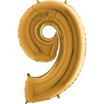 Folyo Balon Altın Rakam 9 96 cm