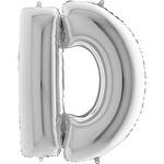 Folyo Balon Gümüş Harf D 96 cm