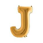 Folyo Balon Altın Harf  J 96 cm