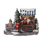 Yılbaşı Figürlü Led Işıklı Ev 14 cm