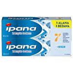 İpana Komple Bakım Diş Macunu + Ağız Bakım Suyu Ferahlık ve Beyazlık 1 Alana 1 Bedava Paketi (65 ml + 65 ml)
