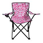 Çiçekli Katlanır Kamp Sandalyesi