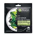 Garnier Siyah Kağıt Yüz Maskesi Saf Kömür Gözenek Sıkılaştırma