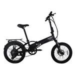 "Mecer Katlanır Elektrikli Bisiklet 20"" Siyah"