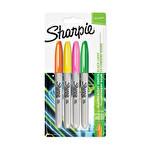 Sharpie Fine Permanet Markör Neon 4'lü