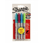 Sharpie Fine Permanet Markör Canlı Renkler 4'lü
