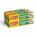 Koroplast Buzdolabı Poşeti 24x38 Orta Boy 3+1 80'li