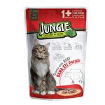 Jungle Pouch Soslu Dana Etli Yaş Kedi Maması 100 g