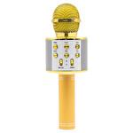 Intum Gold Karaoke Bluetooth Mikrofon