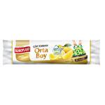 Koroplast Ekstra Güçlü Büzgülü Limon Orta Boy Çöp Torbası 15'li