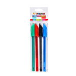 Renkli Tükenmez Kalem 4'Lü