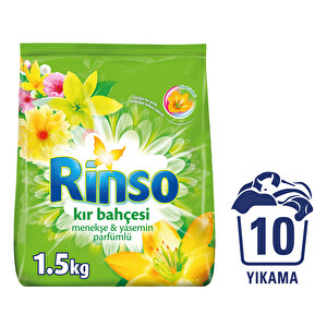 Rinsomatik Toz Çamaşır Deterjanı Çiçek Özleri Kır Bahçesi 1.5 kg