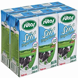 Sütaş Süt Uht 6'lı 200 ml