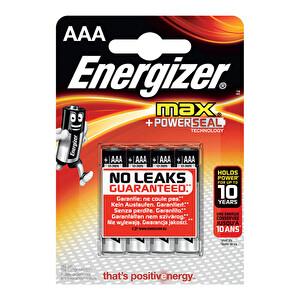 Energizer Max İnce Kalem Pil AAA 4'lü
