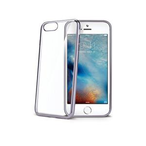 Celly iPhone 7 Laser Dark Silver Telefon Kılıfı