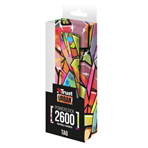 Trust Tag PowerStick Taşınabilir Şarj Cihazı 2600 - Graffiti Arrows