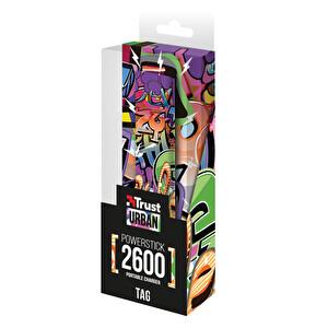 Trust Tag PowerStick Taşınabilir Şarj Cihazı 2600 - Graffiti Text