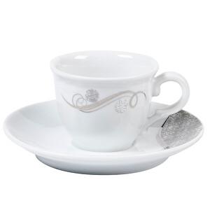 Güral Porselen Geometrik Desenli Kahve Fincan Takımı 12 Parça