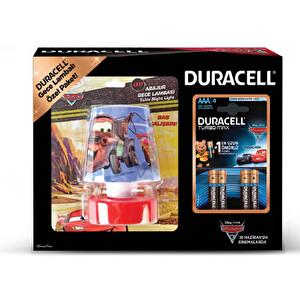 Duracell 4'lü İnce Pil (Cars Gece Lambası Hediyeli)