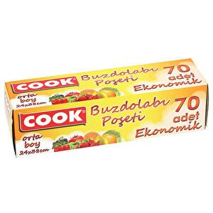 Cook Buzdolabı Poşeti Orta Boy 70 Adet