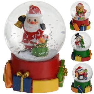 Noel Babalı Kar Küresi 6 Cm