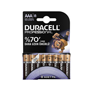 Duracell Professional AAA İnce Kalem Pil 8'li