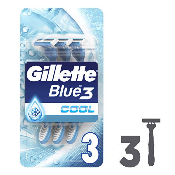 6cc0d95955c9f Gillette Blue3 Cool Kullan At Tıraş Bıçağı 3'lü #30005764 | CarrefourSA