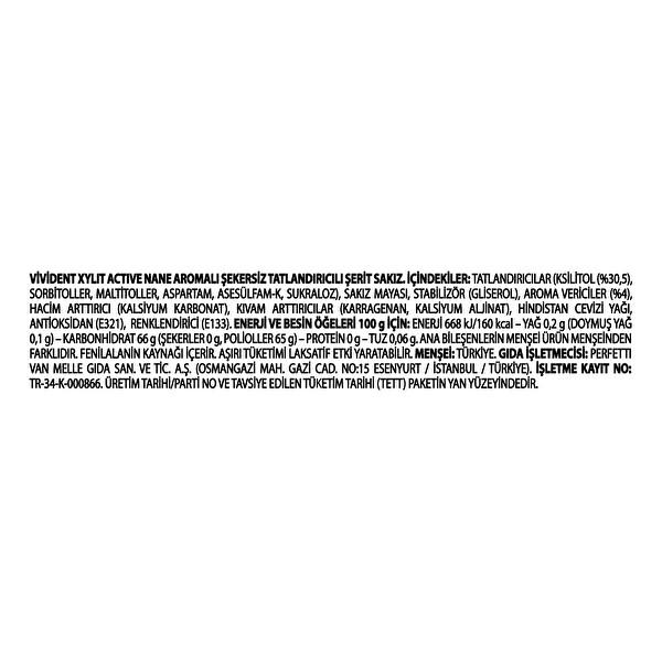 Vivident Active Nane Aromali Serit Sakiz 14 Adet 30010854