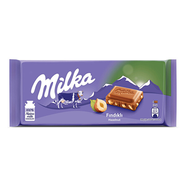 Milka Fındıklı Sütlü Tablet Çikolata 80 g