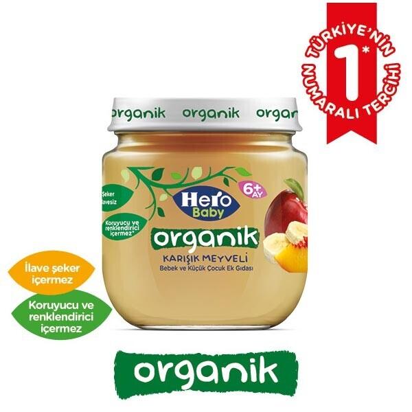 Hero Baby Organik Karisik Meyve Puresi 120 G 30162684 Carrefoursa